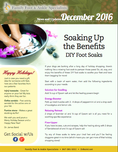 Family Foot and Ankle Specialists December 2016 Newsletter
